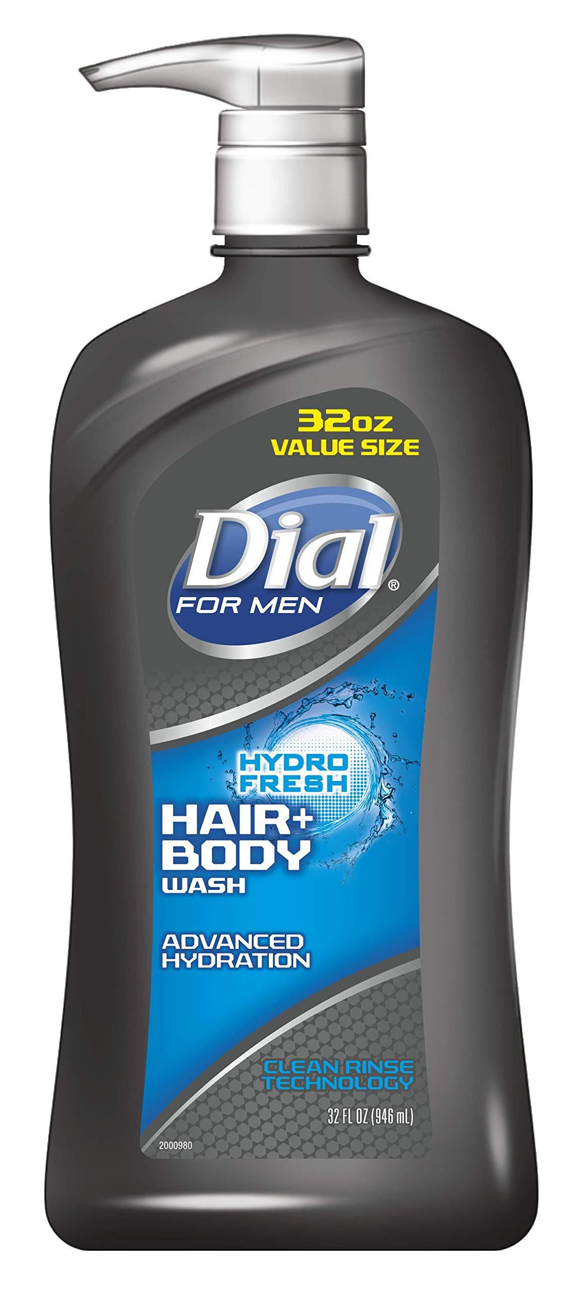 Dial for Men Hair + Body Wash, Hydro Fresh, 32 Ounce