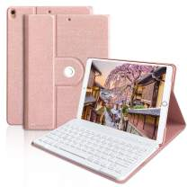 iPad Keyboard Case for iPad Air 3 10.5, iPad Pro 10.5 2017, iPad Air 3rd Generation Case with Keyboard Detachable Wireless Keyboard Protective Case Cover iPad 10.5 Inch Case with Keyboard(Champagne)