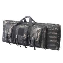 """Double Long Rifle Bag Firearm Transportation Case Outdoor Tactical Carbine Cases Water Dust Resistant Long Gun Case Bag,Bag for Hunting Shooting,Available Length in 38"""" 42"""""""