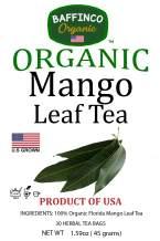 Mango Leaf Tea by Baffinco Organic , 30 Tea bags , 100% Pure Leaf, Natural, Organic , Caffeine-Free FLORIDA GROWN USA