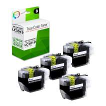 TCT Compatible Ink Cartridge Replacement for Brother LC3019 LC3019BK Black Super High Yield Works with Brother MFC-J5330DW J6530DW J6930DW J6730DW Printers (3,000 Pages) - 4 Pack