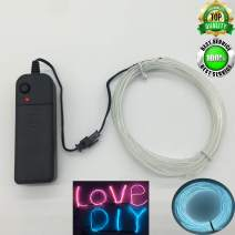 ShineWorld EL Wire Kit,Neon EL Wire kit,Neon Light Wire,Glowing Wire,EL Wire with Battery Pack for Parties,Halloween,Christmas,DIY Decoration
