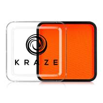 Kraze FX Square - Neon Orange (25 gm) - Water Activated, Professional UV Glow Blacklight Reactive Face Painting Colors, Hypoallergenic, Safe, Washable Fluorescent Face & Body Paint