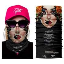 TEFITI Face Scarf Casual Balaclava Headwear Stretchable Bandanna Headbands Wind/Sun/UV Protection