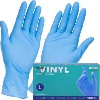 Safeko Synthetic Vinyl Single Use Blue Gloves