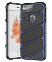 iPhone 7 Case,iPhone 6s Case,Spevert [Carbon Fiber Series] Dual Layer Hybrid Shock Absorption Scratch Proof Slim Protective Case Cover for iPhone 7/6/6s 4.7 inches - Deep Blue/Black