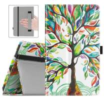 Dadanism Folio Case Fits All-New Amazon Kindle Fire 7 Tablet (9th Generation, 2019 Release Only), Premium PU Leather Lightweight Slim Shockproof Smart Stand Cover with Auto Wake/Sleep - Lucky Tree