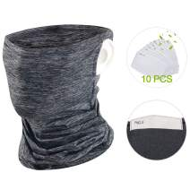Neck Gaiter Face Bandanas with Ear Loops Design,Summer Ice Silk Cooling Sports Scarf Balaclava for Dust Outdoor