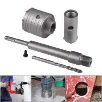 HOHXEN 65mm + 30mm SDS Plus Shank Hole Saw Cutter Concrete Cement Stone Wall Drill Bit