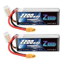 Zeee 14.8V 120C 2200mAh 4S Lipo Battery with XT60 Plug RC Graphene Battery for RC Models RC Boat FPV Drone Quadcopter Helicopter Airplane RC Car(2 Pack)
