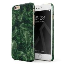 BURGA Phone Case Compatible with iPhone 6 / 6s - Tropical Exotic Summer Green Palm Tree Leaf Nature Plant Leaves Cute Case for Women Thin Design Durable Hard Plastic Protective Case