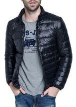 Men's Retro Lightweight Packable Down Puffer Coat Stylish Outerwear Jacket