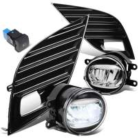LED Bumper Fog Light Lamps w/Bezel Cover+Switch Replacement for Toyota Camry SE XSE 18-20