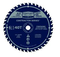 """Century Drill & Tool 10268 Contactor Series Finishing Circular Saw Blade, 6-1/2"""" by 40T"""