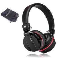 Active Noise Cancelling Bluetooth Headphones with Mic, Monodeal Hi-Fi Stereo Headset with Soft Memory-Protein Earmuffs, Foldable on The Ear Wired/Wireless Headset for Travel PC/Cell Phones/TV