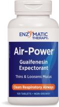 Enzymatic Therapy Air-Power Guaifenesin Expectorant Non-Drowsy 100 Count