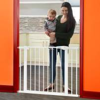 """Yicostar 29.5-40.5"""" Auto Close Baby Gate, Extra Wide Child Safety Gate for Stairs, Doorways, Dogs, Easy Walk Thru Pet Gate for House, Includes 2 U-Pressure Bolts, 2.75-Inch and 5.5-Inch Extension"""