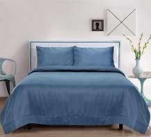 LINENWALAS Organic Bamboo Sheets Set 4 PC - 100% Natural Softest Coolest Bedding (King, Bahamas Blue)