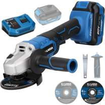 G LAXIA Angle Grinder, 20V 4-1/2-inch Cordless Grinder Tool with 4.0Ah Battery and Fast Charger, Cutting & Grinding Wheels, Side Handle for Cutting and Grinding