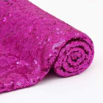 1 Yard Fuchsia Sequin Fabric Squares Sequin Mesh Fabric by The Yard for Sewing Costumes Apparel Crafts