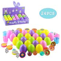 24PCS Easter Eggs Toys, Akamino Surprise Egg Filled Toys Boy and Girl Party Favor, Basket Stuffers, Perfect for Easter Egg Hunt for Kids