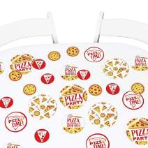 Big Dot of Happiness Pizza Party Time- Baby Shower or Birthday Party Giant Circle Confetti - Party Decorations - Large Confetti 27 Count