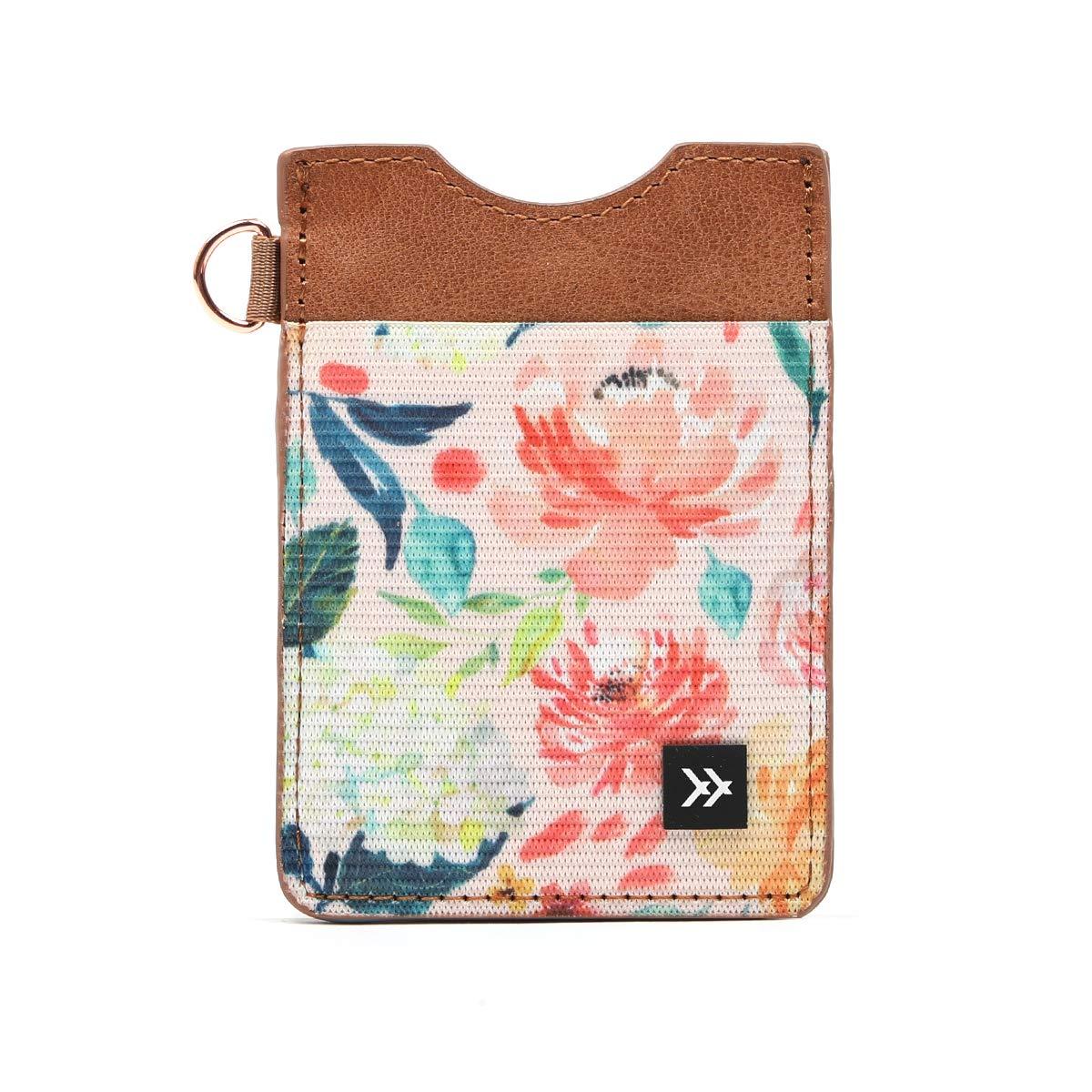 Thread Wallets - Slim Minimalist Wallet - Vertical Card Holder (Wildflower)
