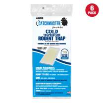 Catchmaster Rat, Mouse, Rodent & Insect Cold Weather Professional Strength Glue Traps - Non Toxic - 6 Glue Trays