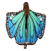 LERFEY Prop Soft Fabric Butterfly Wings Shawl Fairy Nymph Pixie Costume Accessory