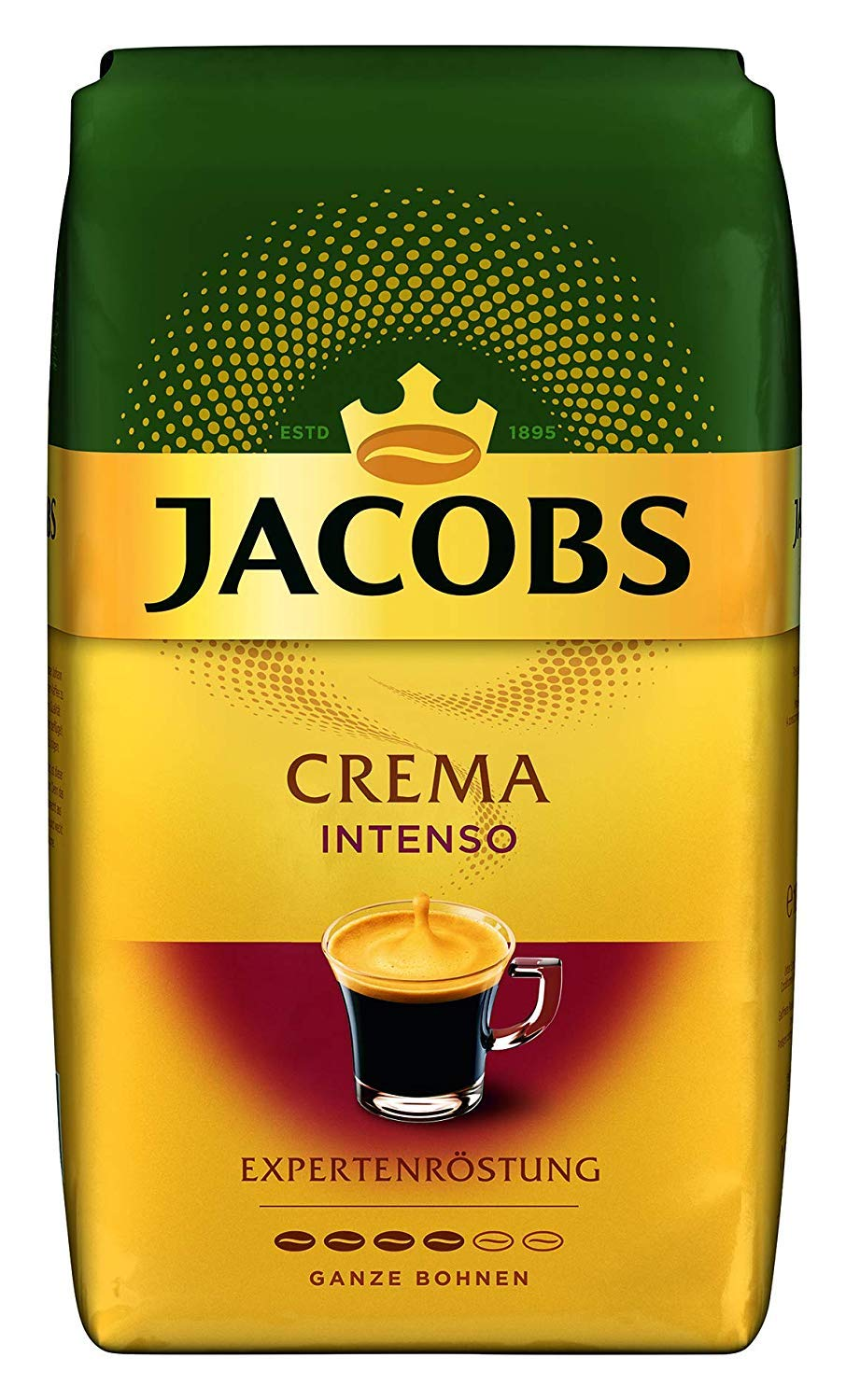 Jacobs Crema Intenso Whole Bean Coffee 1000 Gram / 35.2 Ounce (Pack of 1)