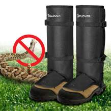 IC ICLOVER Snake Guards, New Upgraded Lightweight Stab-Resistant Snake Gaiters Proof Leggings, Protects Against Snake Bite of All Types of Rattlesnakes, Adjustable Size Fits for Men and Women