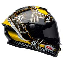 Bell Star MIPS Equipped Street Motorcycle Helmet (Isle of Man Gloss Black/Yellow, X-Small)