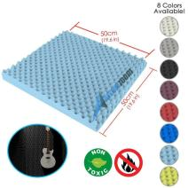 Arrowzoom New 1 Piece of (19.6 in X 19.6 in X 1.1 in) Convoluted Foam Soundproofing Insulation Egg Crate Acoustic Wall Padding Studio Foam Tiles AZ1052 (Baby Blue)