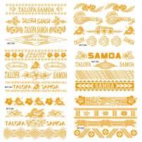 Original Designed Tattoos Missfashion Temporay Tattoos Samoa Bangle Style Body Stickers -Gold