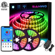 LED Strip Lights - 32.8ft Dream Color LED Light Strip Works with Alexa Google Assistant, SMD 5050 WiFi Flexible RGB Waterproof LED Strip App Controlled, Color Changing Tape Lights Kit for Home Kitchen