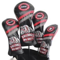 Guiote Golf Head Covers PU Leather Vintage Design Golf Club Headcover Set