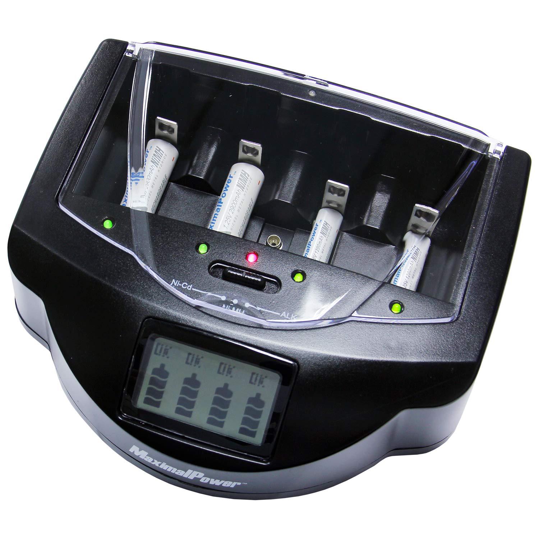 MaximalPower FC999 Universal Rapid Charger for Alkaline, RAM, Ni-MH, Ni-CD, AA, AAA, C, D, 9V Batteries