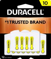 Duracell - Hearing Aid Batteries Size 10 (Yellow) - long lasting battery with EasyTab for ease of installation - 8 count