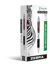 Zebra Pen Z-Grip Plus Retractable Ballpoint Pen, Medium Point, 1.0mm, Red Ink, 12-Count