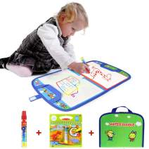 Jenilily Water Doodle Mat Portable Travel Drawing Bag Water Drawing Mat with Pen Educational Painting Toy for Toddlers Kids