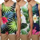 COOFANDY Men's Floral Tank Tops Cool All Over Print Sleeveless Shirt Summer Fruit Graphic T-Shirts Hawaii Vacation Beach