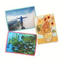 3-Pack Lynktec Smartie Microfiber Cleaning Cloth for iPad and Touch Screen (Never Stop Exploring, Van Gogh Sunflowers, Claude Monet Water Lilies)