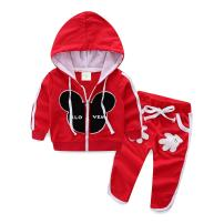 Mud Kingdom Cute Kids Outfits Cartoon Zip Up Hoodies and Pants