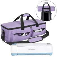 Luxja Carrying Bag Compatible with Cricut Explore Air and Maker, Tote Bag Compatible with Cricut Explore Air, Silhouette Cameo 4 and Supplies (Bag Only), Lavender