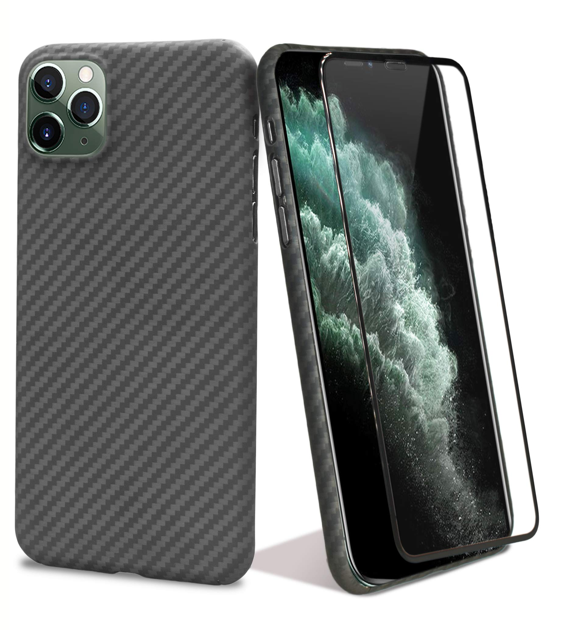 chitri iPhone 11 Pro Max Carbon Fiber Slim Case, Aramid Fiber [Real Body Armor Material] Minimalist Strongest Durable Scratch Resistant Ultra-Thin Perfectly Fit Cover for iPhone 11 Pro Max 6.5 inch