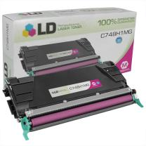 LD Remanufactured Toner Cartridge Replacement for Lexmark C748 C748H1MG High Yield (Magenta)