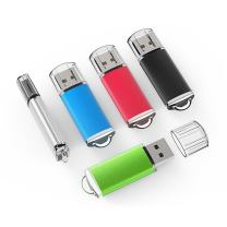 TOPESEL 5 Pack 4GB USB 2.0 Flash Drive Memory Stick Thumb Drives (5 Mixed Colors: Black Blue Green Red Silver)