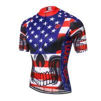 New Pro Full Zipper Men's Cycling Jersey Short Sleeve Riding Shirt USA