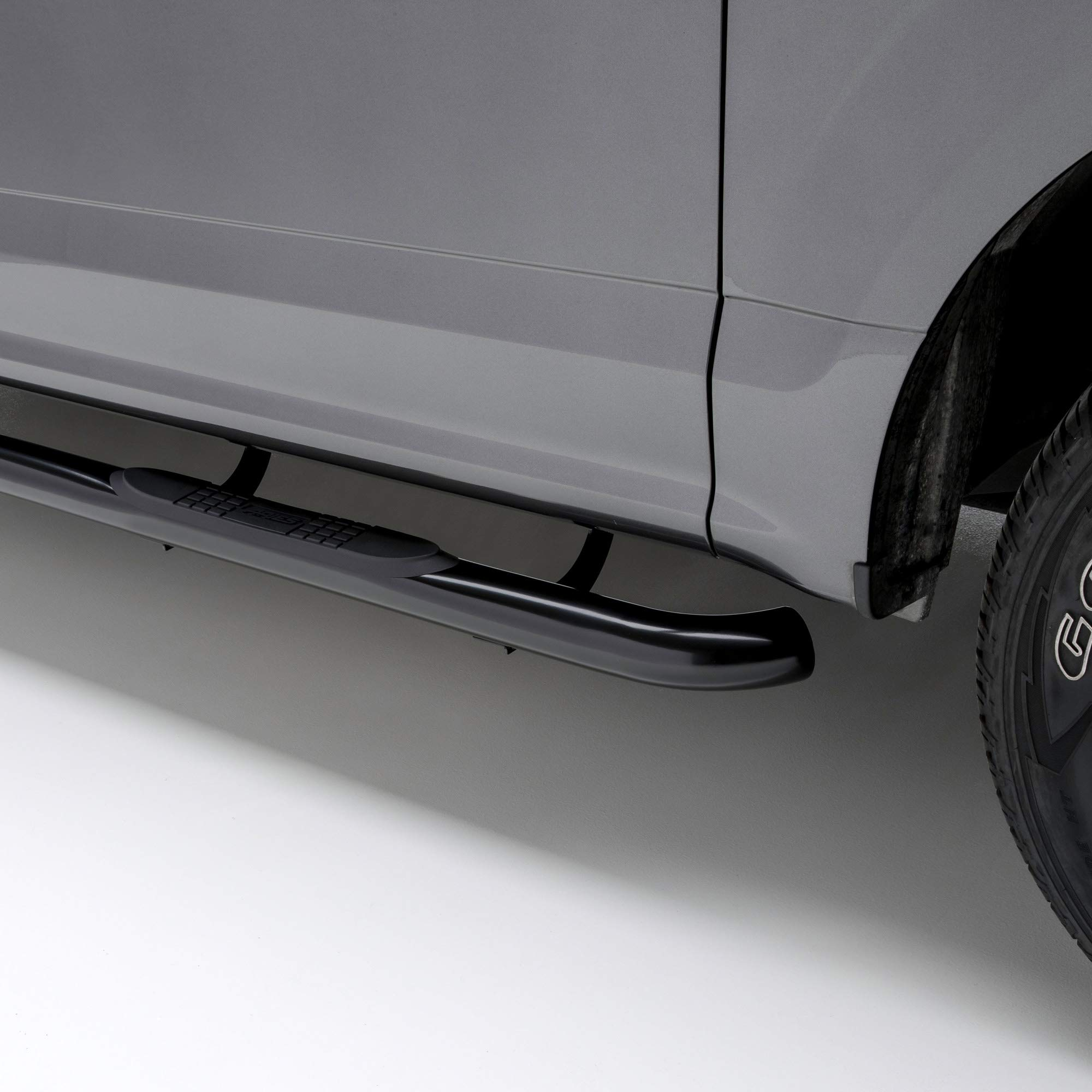ARIES 204051 3-Inch Round Black Steel Nerf Bars, No-Drill, Select Chevrolet Colorado, GMC Canyon