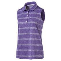 Puma Golf 2017 Women's Pounce Stripe Sleeveless Polo